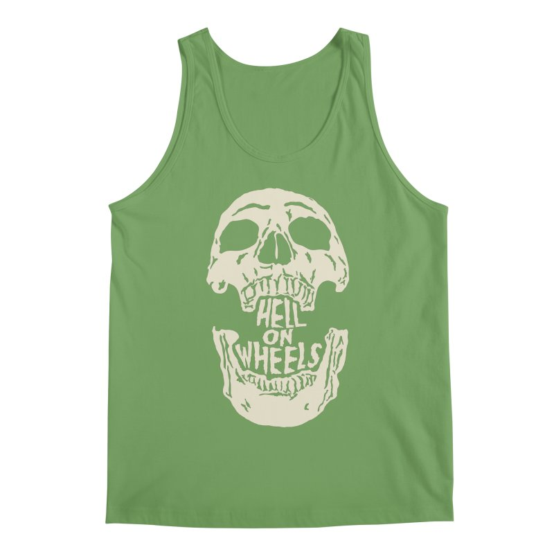 Hell On Wheels (Bone) Men's Tank by Ran When Parked Supply Co.