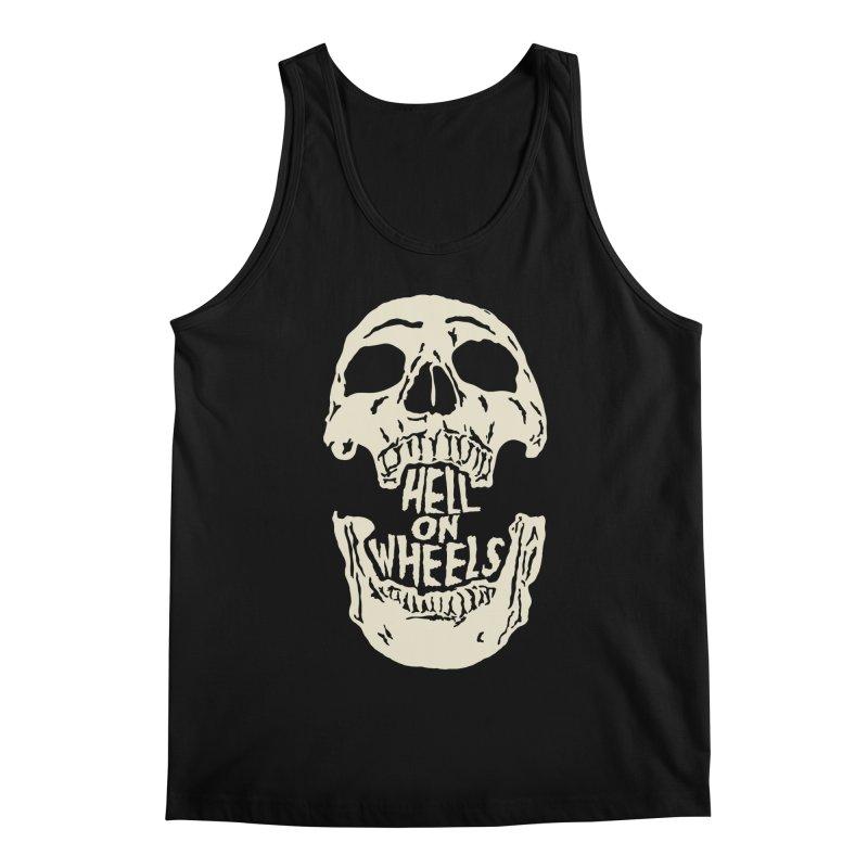Hell On Wheels (Bone) Men's Tank by Ran When Parked Supply Co.