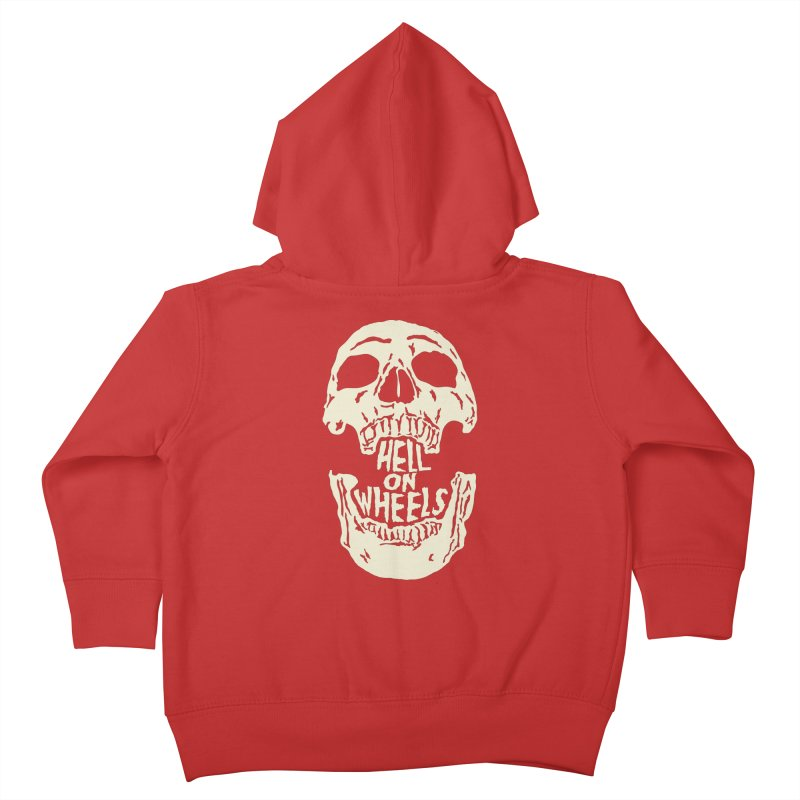 Hell On Wheels (Bone) Kids Toddler Zip-Up Hoody by Ran When Parked Supply Co.