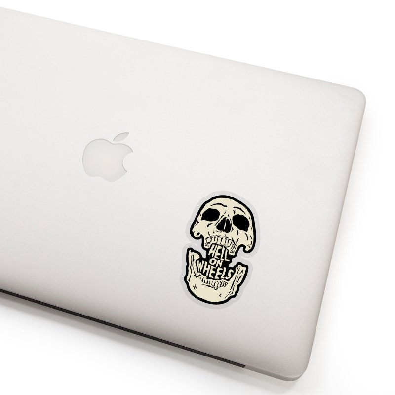Hell On Wheels (Bone) Accessories Sticker by Ran When Parked Supply Co.