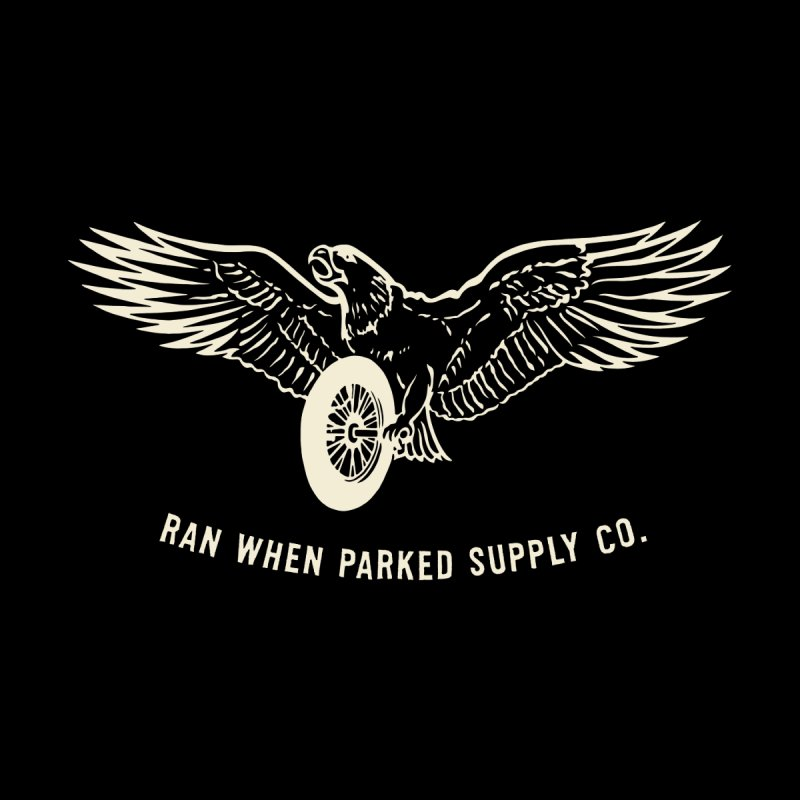 Flying Eagle Men's Zip-Up Hoody by Ran When Parked Supply Co.