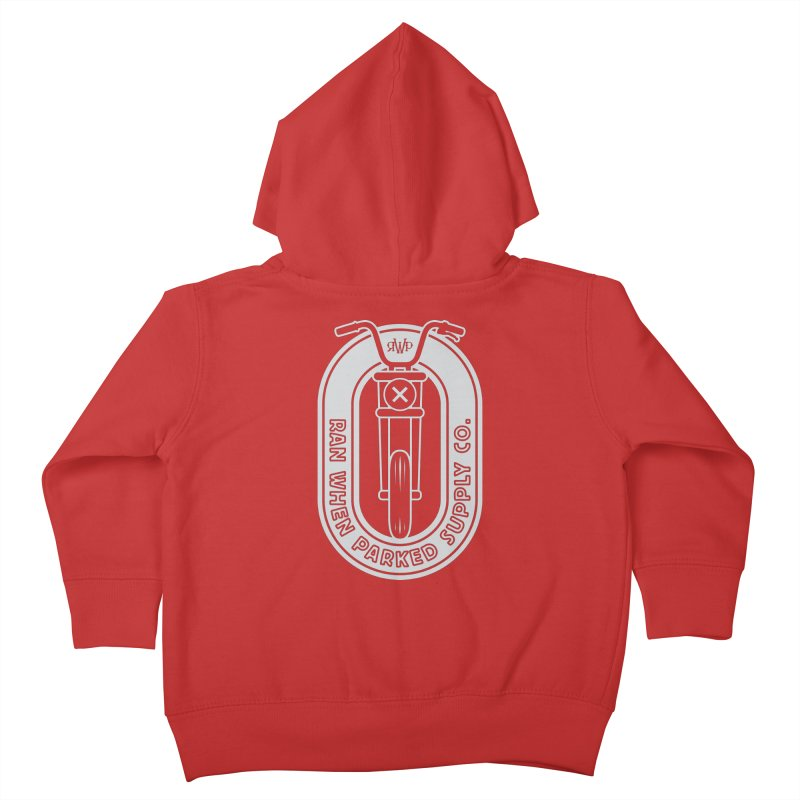 RWP Oval Badge Kids Toddler Zip-Up Hoody by Ran When Parked Supply Co.