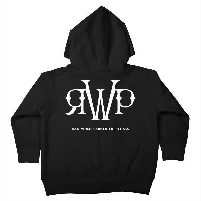 RWP Logo Kids Toddler Zip-Up Hoody by Ran When Parked Supply Co.