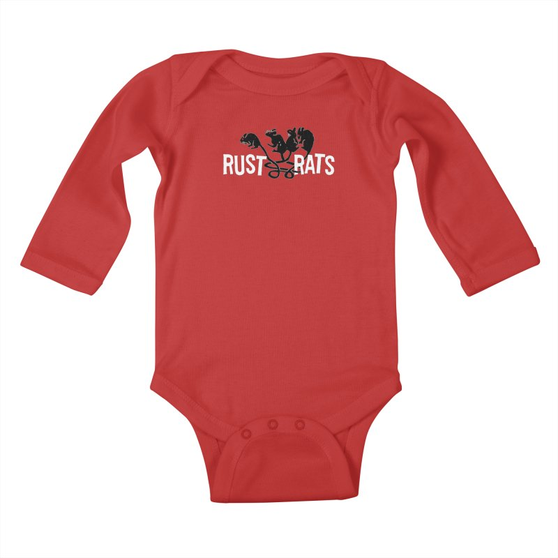 Rust Rats Kids Baby Longsleeve Bodysuit by Ran When Parked Supply Co.