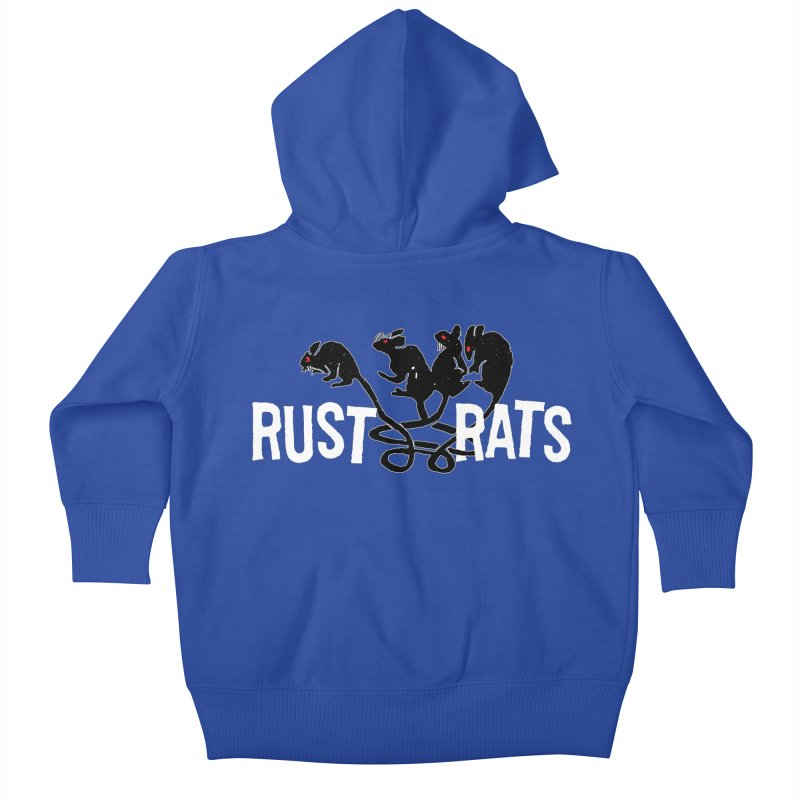 Rust Rats Kids Baby Zip-Up Hoody by Ran When Parked Supply Co.