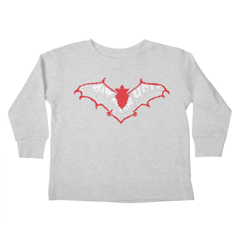 Bat Out Of Hell (v1) Kids Toddler Longsleeve T-Shirt by Ran When Parked Supply Co.