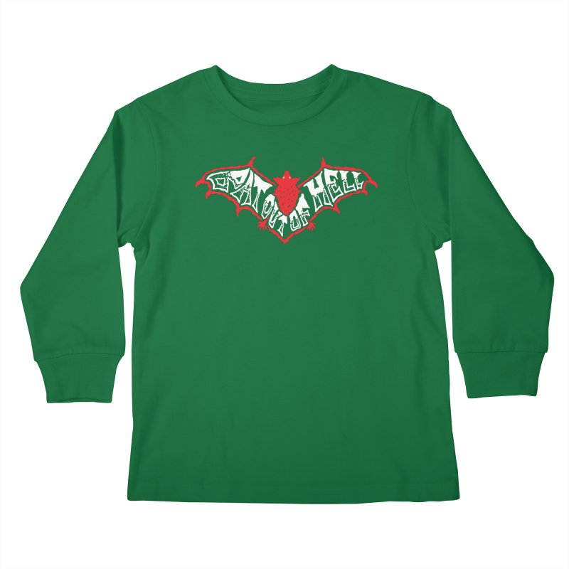 Bat Out Of Hell (v1) Kids Longsleeve T-Shirt by Ran When Parked Supply Co.