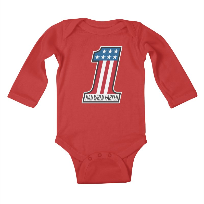 No. 1 Kids Baby Longsleeve Bodysuit by Ran When Parked Supply Co.
