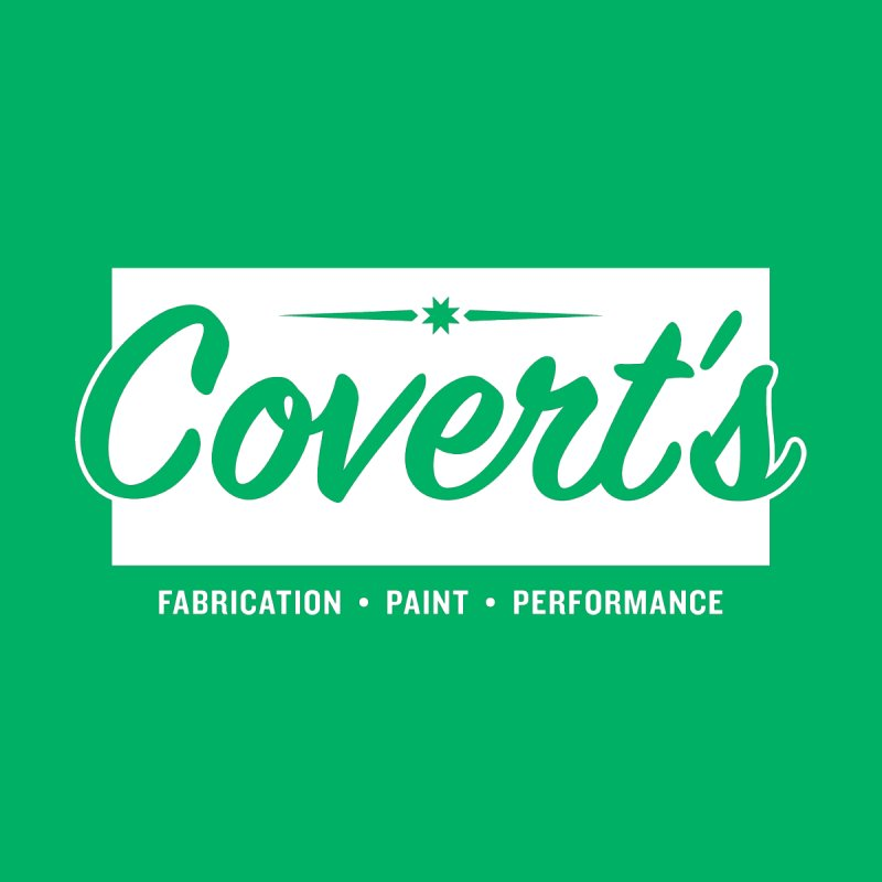 Covert's Shop Logo (White) Kids Baby T-Shirt by Ran When Parked Supply Co.