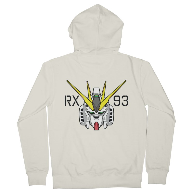 RX-93 Men's French Terry Zip-Up Hoody by GundamUK's Store!