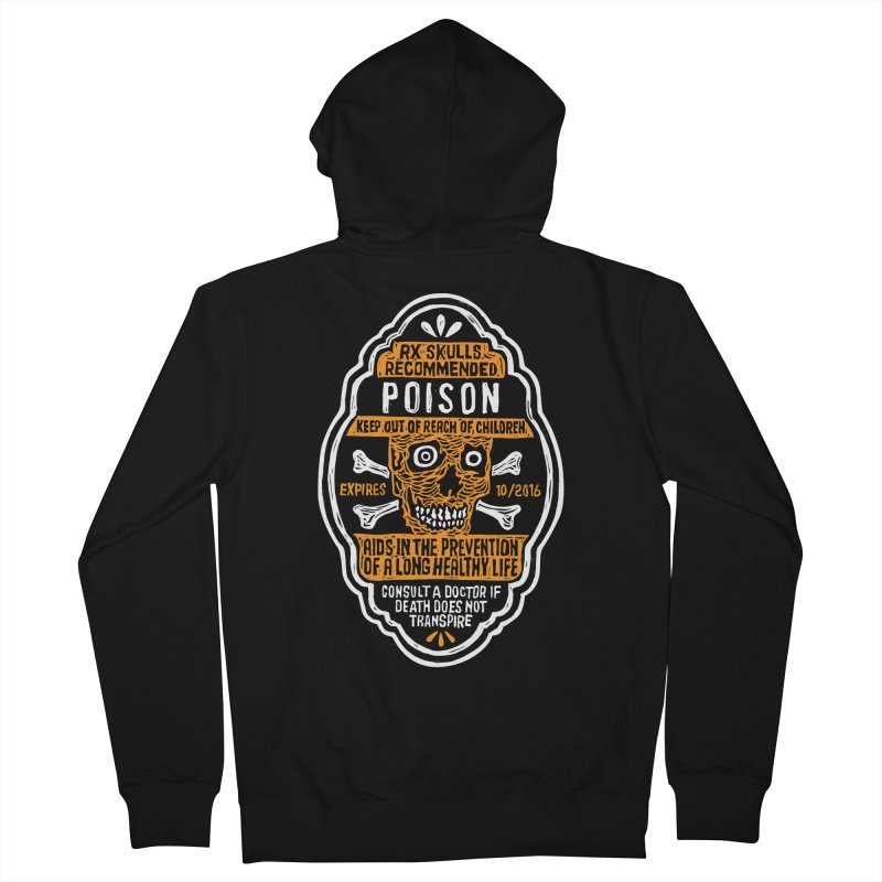 Rx Skulls Recommended Poison Tee Men's French Terry Zip-Up Hoody by RX Skulls