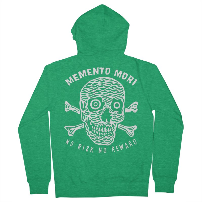 No Risk No Reward Men's French Terry Zip-Up Hoody by RX Skulls