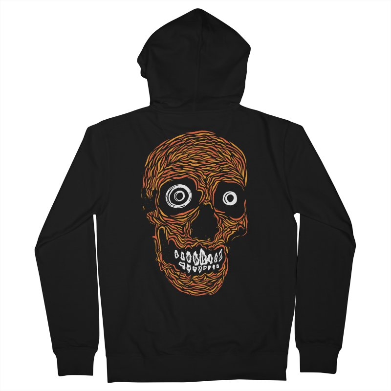 Rx Creep Skull Men's French Terry Zip-Up Hoody by RX Skulls