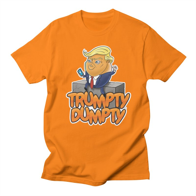 Trumpty Dumpty in Men's Regular T-Shirt Orange by Ryan Ahrens' Artist Shop