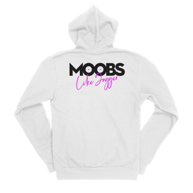 Moobs Like Jagger Men's Zip-Up Hoody by Ryan Ahrens' Artist Shop