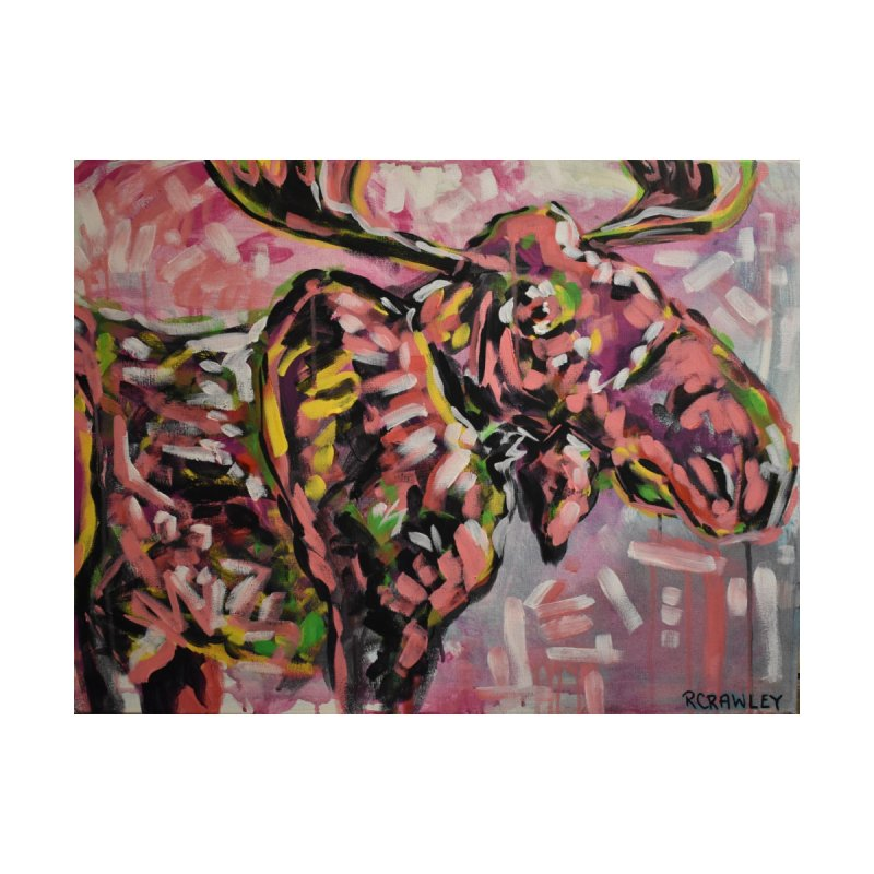 Moose Home Fine Art Print by Rcrawley Art - Shop