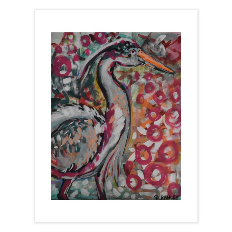 Great Blue Heron Home Fine Art Print by Rcrawley Art - Shop