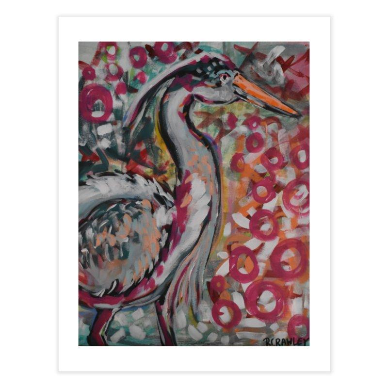 Great Blue Heron Home Fine Art Print by Rcrawley Art - Shop