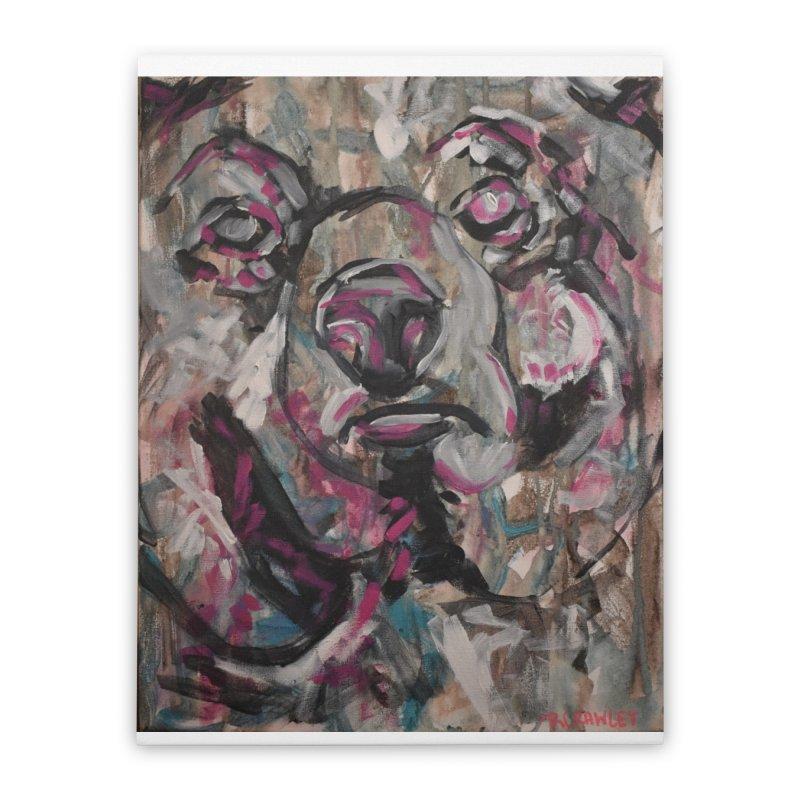Bear Home Stretched Canvas by Rcrawley Art - Shop