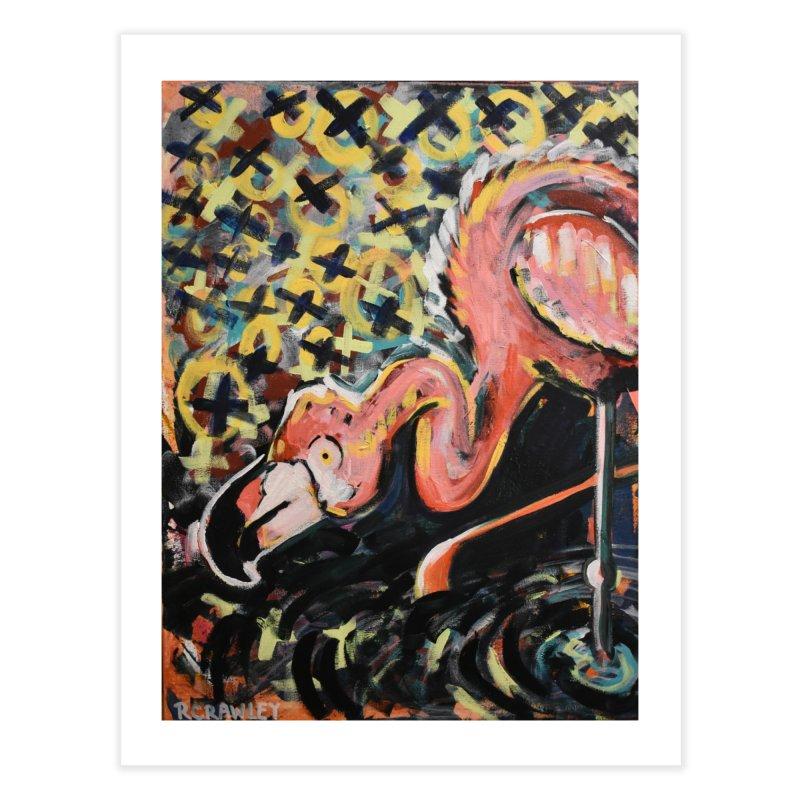 Flamingo Home Fine Art Print by Rcrawley Art - Shop