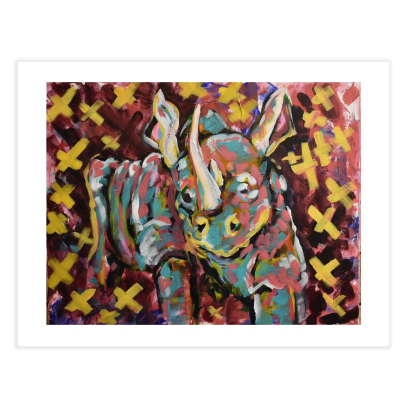 Rhino Home Fine Art Print by Rcrawley Art - Shop