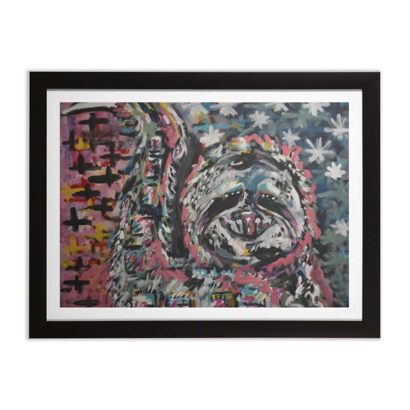 Sloth Home Framed Fine Art Print by Rcrawley Art - Shop