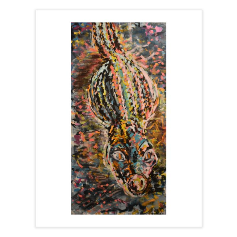 Alligator Home Fine Art Print by Rcrawley Art - Shop