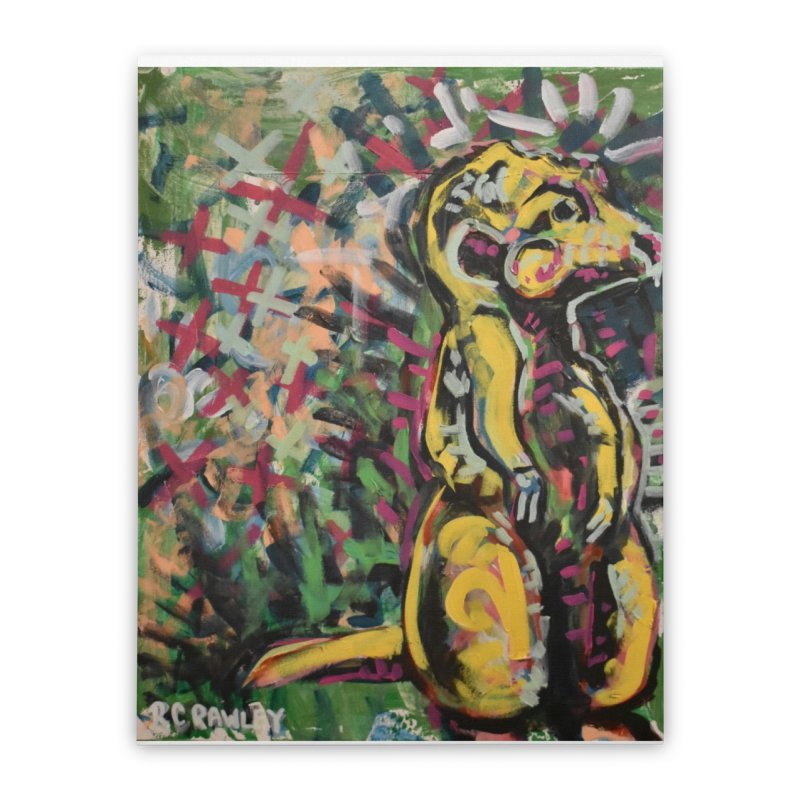 Meerkat Home Stretched Canvas by Rcrawley Art - Shop