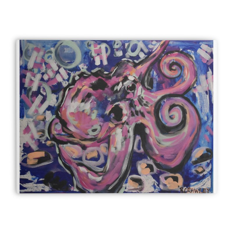 Octopus III Home Stretched Canvas by Rcrawley Art - Shop