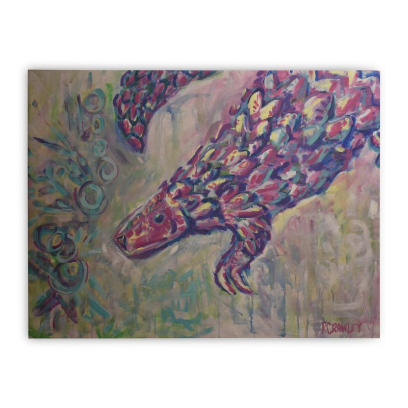 Pangolin Home Stretched Canvas by Rcrawley Art - Shop