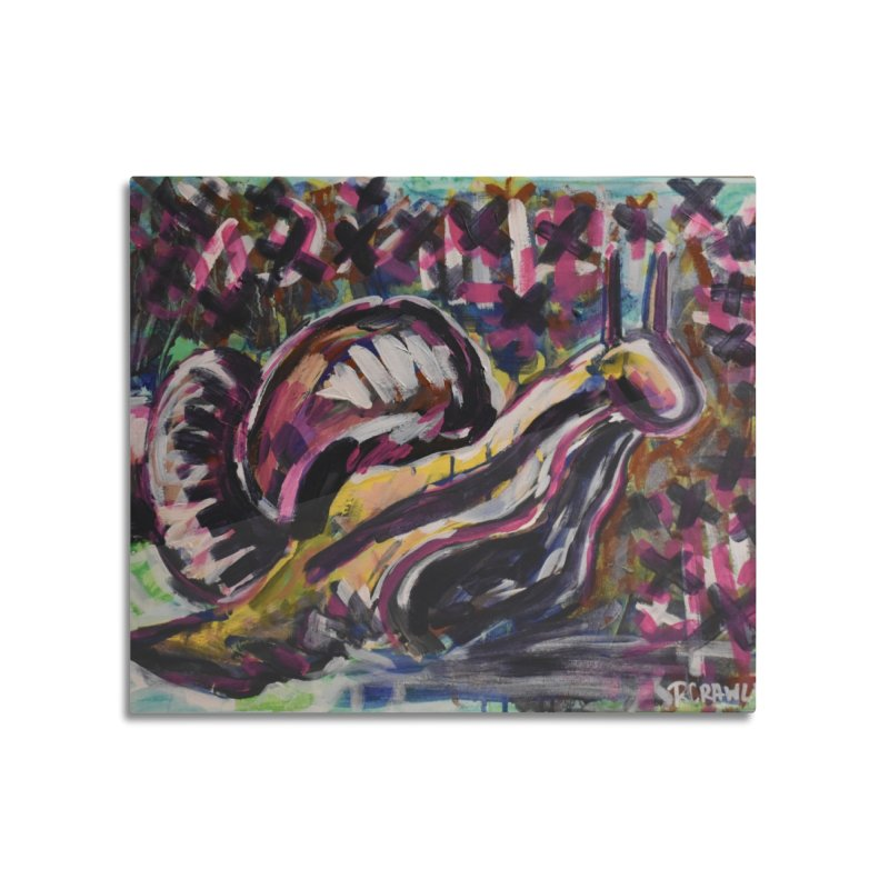 Snail Home Mounted Acrylic Print by Rcrawley Art - Shop