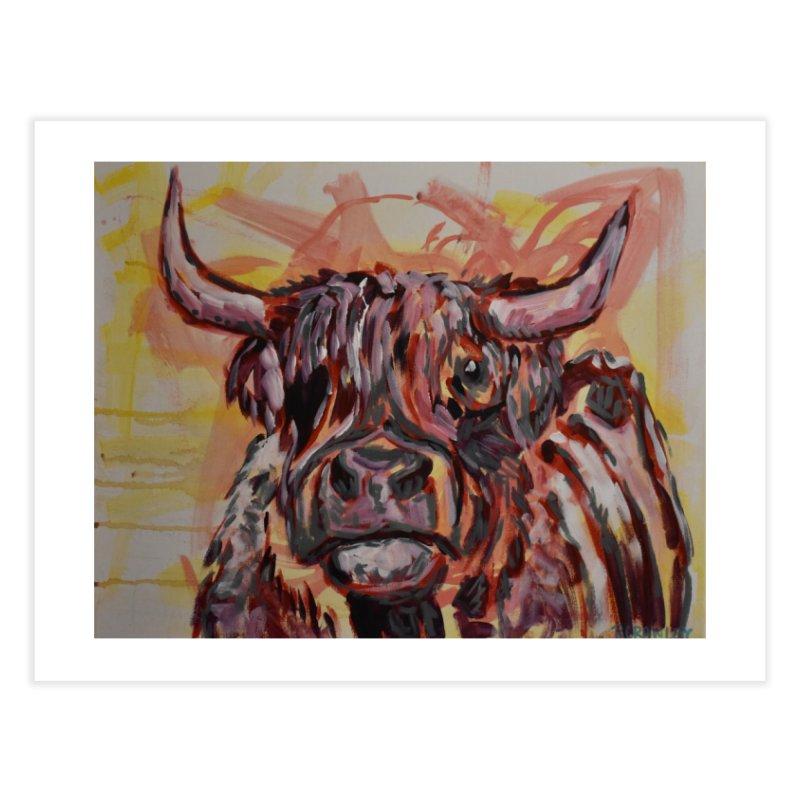 Highlander Cow I Home Fine Art Print by Rcrawley Art - Shop