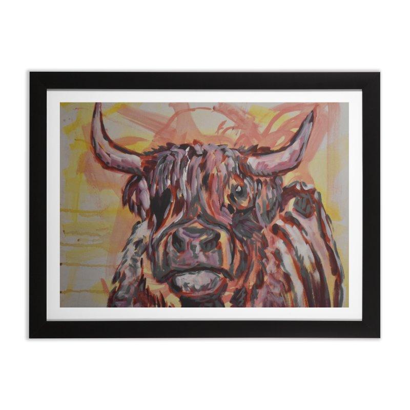 Highlander Cow I Home Framed Fine Art Print by Rcrawley Art - Shop