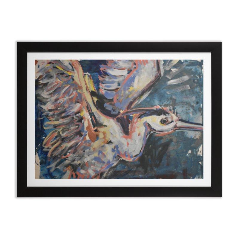 Blue Heron II Home Framed Fine Art Print by Rcrawley Art - Shop