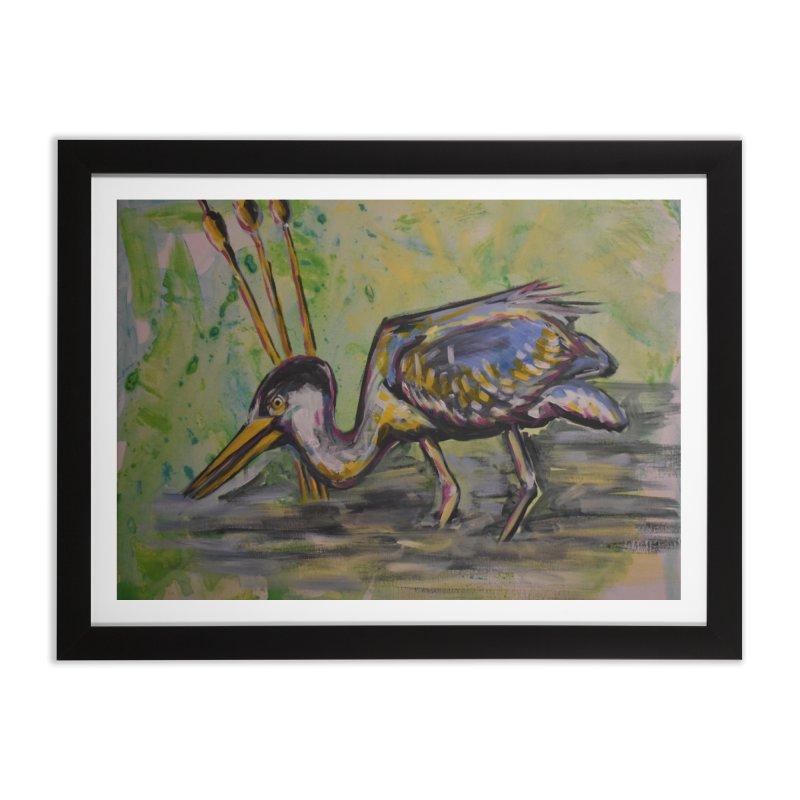 Blue Heron III Home Framed Fine Art Print by Rcrawley Art - Shop