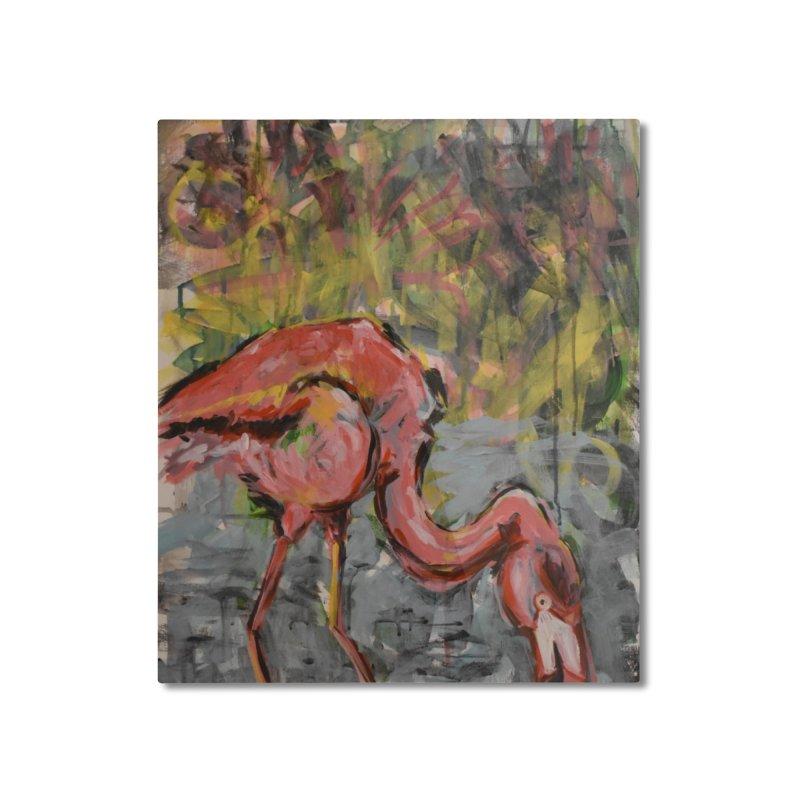 Flamingo II Home Mounted Aluminum Print by Rcrawley Art - Shop