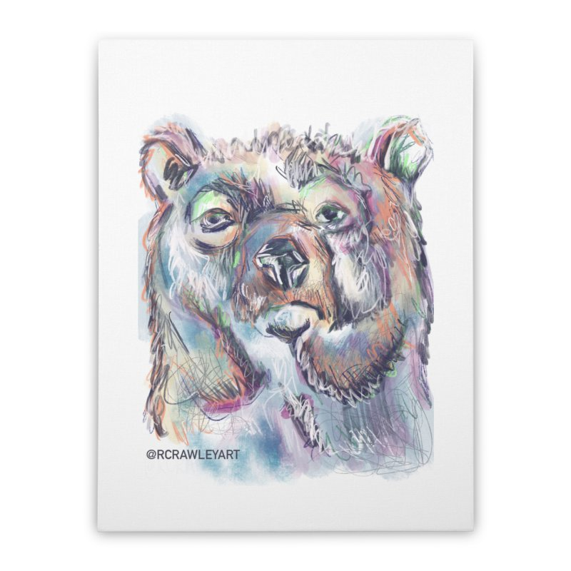 Bear II (digital) Home Stretched Canvas by Rcrawley Art - Shop
