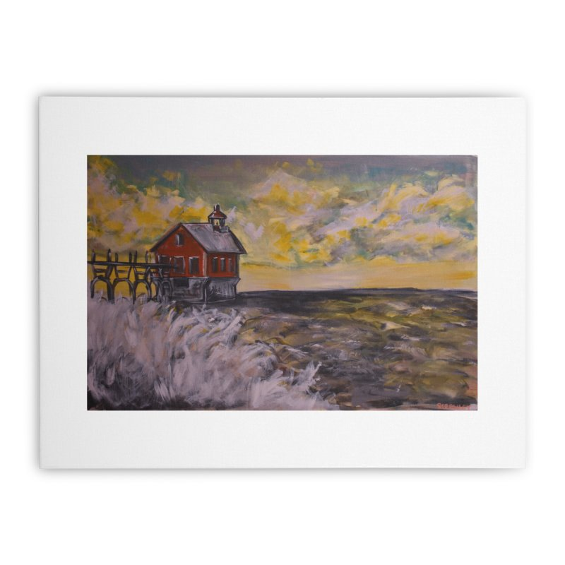 Grand Haven Pier I Home Stretched Canvas by Rcrawley Art - Shop