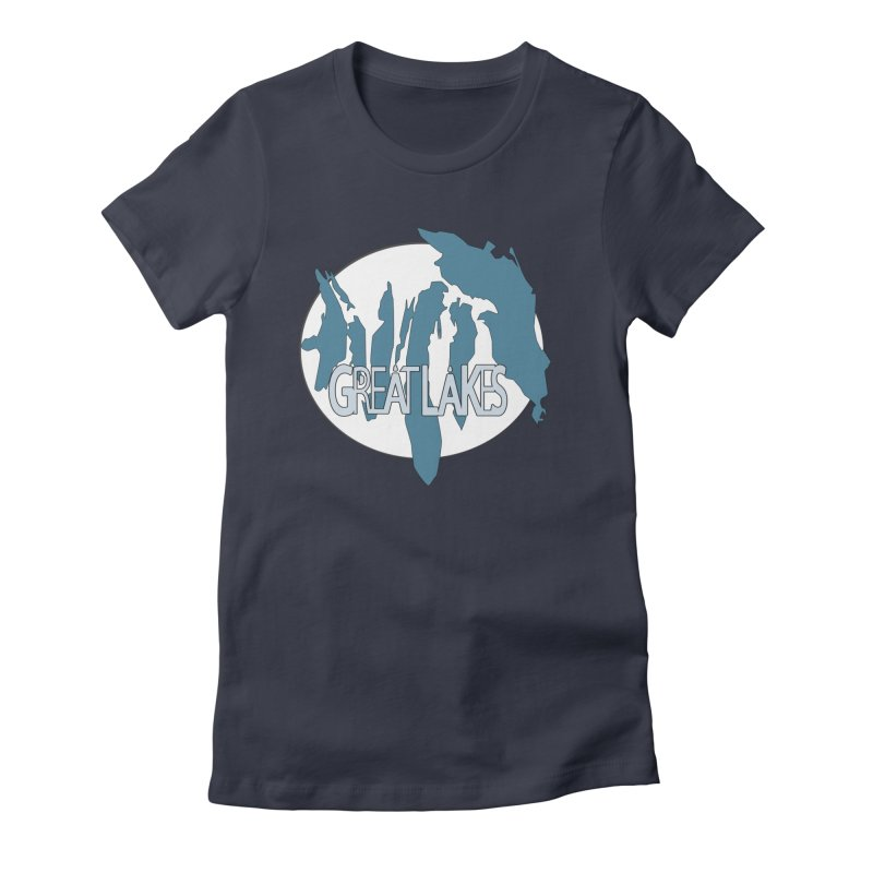 H.O.M.E.S. (Great Lakes) Women's Fitted T-Shirt by Rcrawley Art - Shop