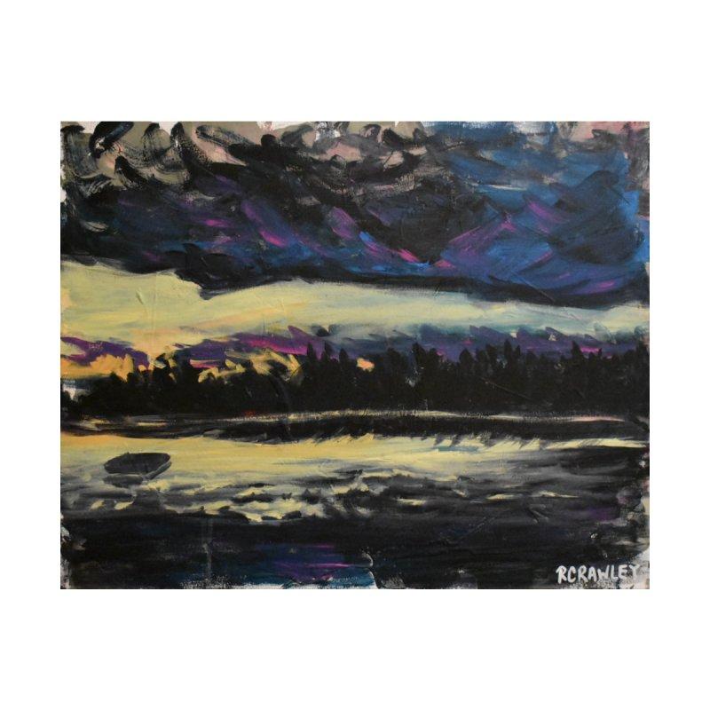 raft on a setting sun by Rcrawley Art - Shop