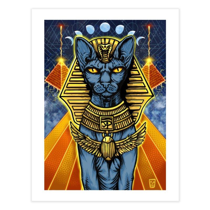 Pharaoh Space Cat Home Fine Art Print by RyanJackAllred