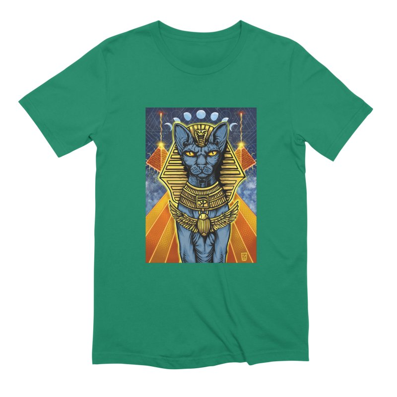 Pharaoh Space Cat Men's T-Shirt by RyanJackAllred