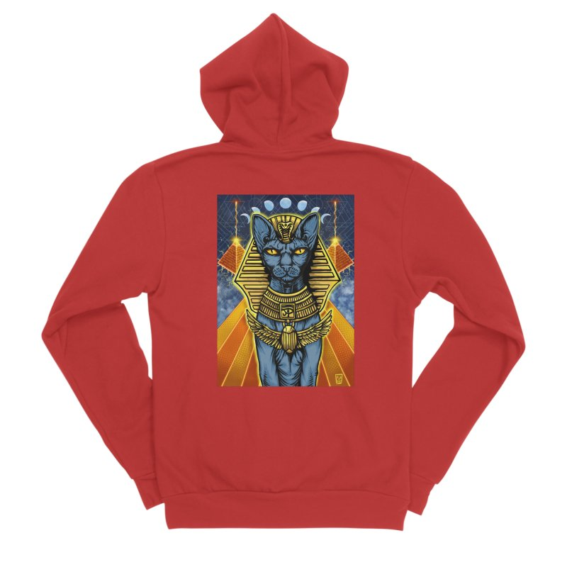 Pharaoh Space Cat Men's Zip-Up Hoody by RyanJackAllred