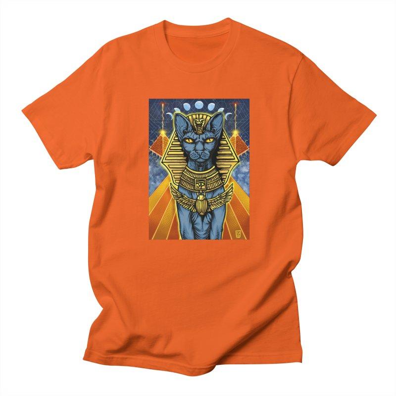 Pharaoh Space Cat Men's T-Shirt by RyanJackAllred