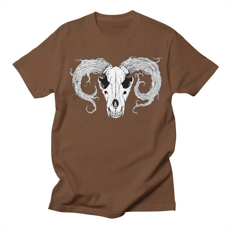 Wolf Skull Women's Regular Unisex T-Shirt by Wandering Moon