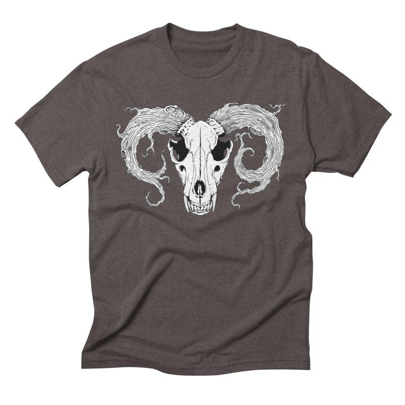 Wolf Skull Men's Triblend T-Shirt by Wandering Moon