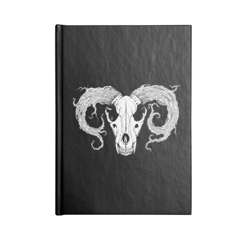 Wolf Skull Accessories Notebook by RyanJackAllred