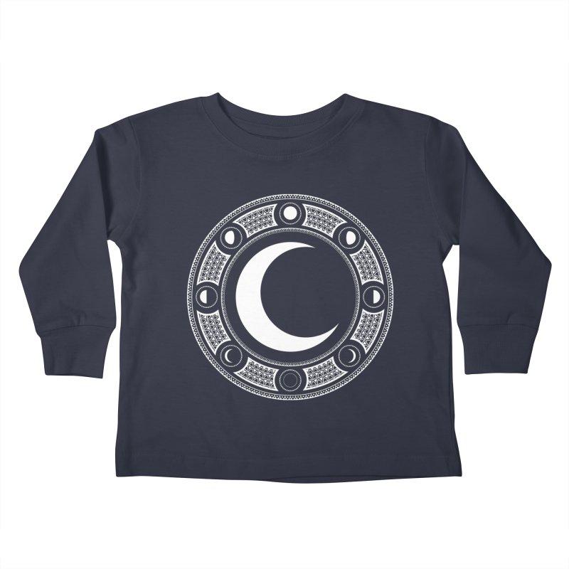 Crescent Moon Emblem Kids Toddler Longsleeve T-Shirt by RyanJackAllred