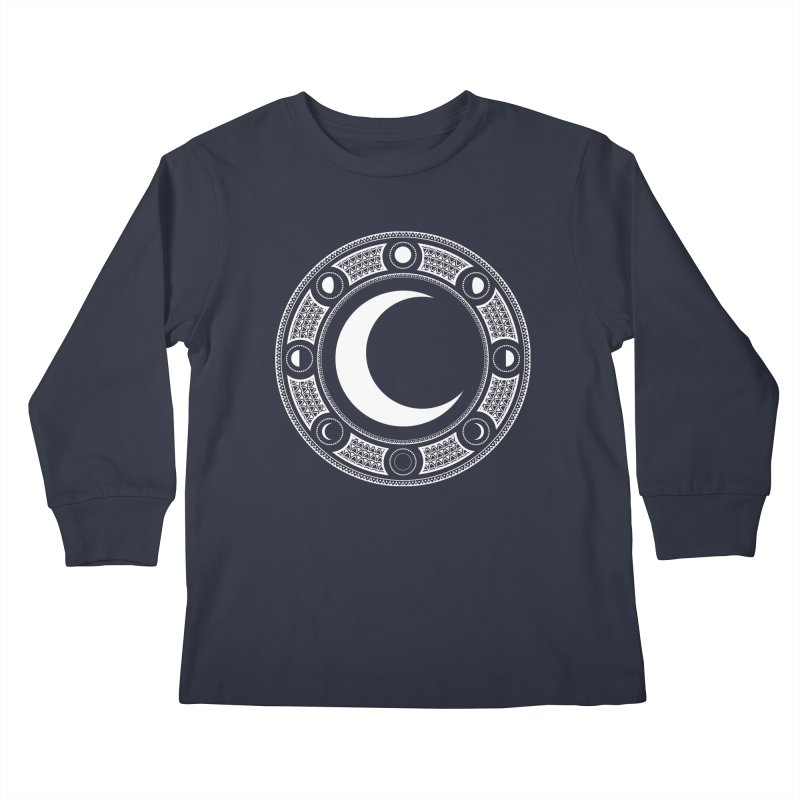 Crescent Moon Emblem Kids Longsleeve T-Shirt by RyanJackAllred