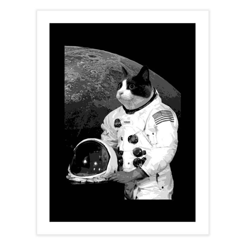 ASTROCAT Home Fine Art Print by Art of Ryan Winchell